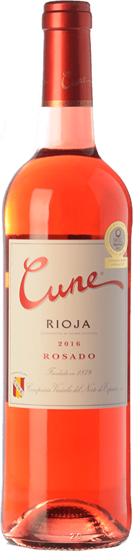 6,95 € Free Shipping | Rosé wine Norte de España - CVNE Cune Joven D.O.Ca. Rioja The Rioja Spain Tempranillo Bottle 75 cl