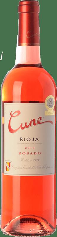 6,95 € Spedizione Gratuita | Vino rosato Norte de España - CVNE Cune Joven D.O.Ca. Rioja La Rioja Spagna Tempranillo Bottiglia 75 cl