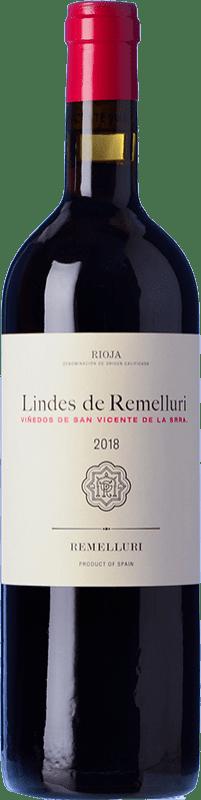 12,95 € Free Shipping | Red wine Ntra. Sra de Remelluri Lindes Viñedos de San Vicente Crianza D.O.Ca. Rioja The Rioja Spain Tempranillo, Grenache, Graciano Bottle 75 cl