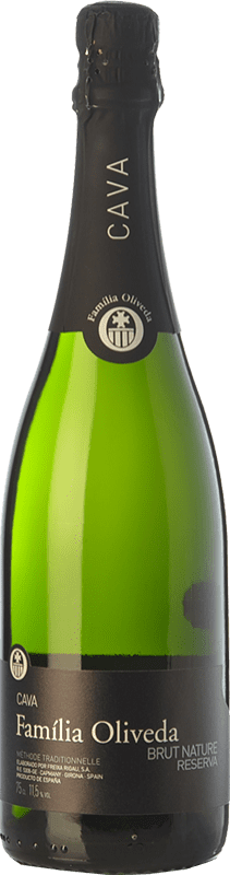 7,95 € Free Shipping | White sparkling Oliveda Brut Nature Reserva D.O. Cava Catalonia Spain Macabeo, Xarel·lo Bottle 75 cl
