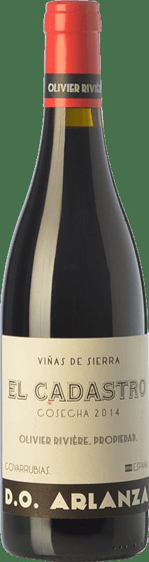 36,95 € Envío gratis | Vino tinto Olivier Rivière El Cadastro Crianza D.O. Arlanza Castilla y León España Tempranillo, Garnacha Botella 75 cl