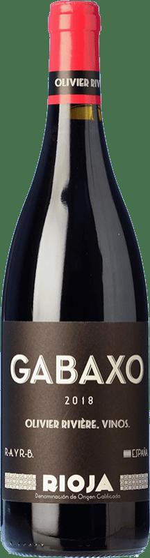 17,95 € Free Shipping | Red wine Olivier Rivière Gabaxo Joven D.O.Ca. Rioja The Rioja Spain Tempranillo, Grenache Bottle 75 cl