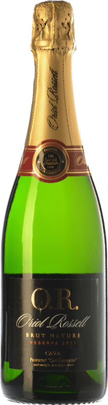 8,95 € Free Shipping | White sparkling Oriol Rossell Brut Nature Reserva D.O. Cava Catalonia Spain Macabeo, Xarel·lo, Parellada Bottle 75 cl