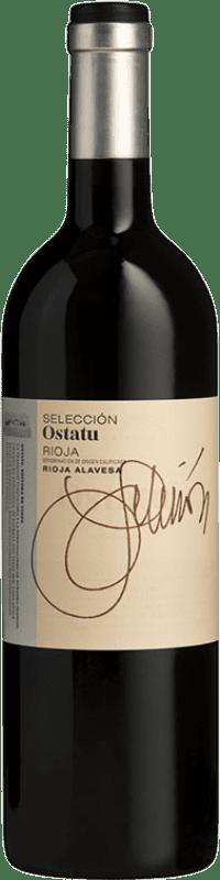 16,95 € Envío gratis | Vino tinto Ostatu Selección Crianza D.O.Ca. Rioja La Rioja España Tempranillo, Graciano Botella 75 cl