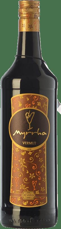 9,95 € Envío gratis | Vermut Padró Myrrha Reserva Cataluña España Botella Misil 1 L