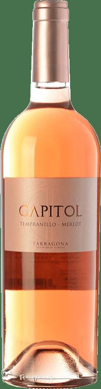 3,95 € Envío gratis | Vino rosado Padró Capitol Joven D.O. Tarragona Cataluña España Tempranillo, Merlot Botella 75 cl