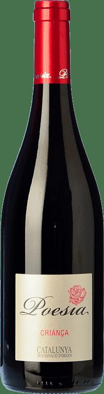 4,95 € Envío gratis | Vino tinto Padró Poesía Crianza D.O. Catalunya Cataluña España Tempranillo, Merlot Botella 75 cl