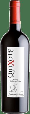 9,95 € Free Shipping | Red wine Casa del Blanco Quixote Crianza D.O.P. Vino de Pago Casa del Blanco Castilla la Mancha Spain Cabernet Franc, Malbec Bottle 75 cl