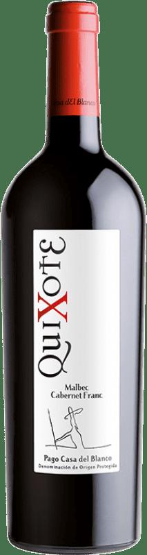 12,95 € Envoi gratuit | Vin rouge Casa del Blanco Quixote Crianza D.O.P. Vino de Pago Casa del Blanco Castilla La Mancha Espagne Cabernet Franc, Malbec Bouteille 75 cl