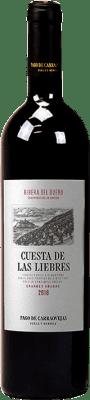 147,95 € Envío gratis | Vino tinto Pago de Carraovejas Cuesta de las Liebres Crianza D.O. Ribera del Duero Castilla y León España Tempranillo Botella 75 cl
