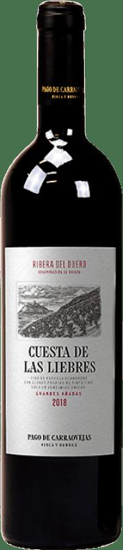 147,95 € Free Shipping | Red wine Pago de Carraovejas Cuesta de las Liebres Crianza D.O. Ribera del Duero Castilla y León Spain Tempranillo Bottle 75 cl