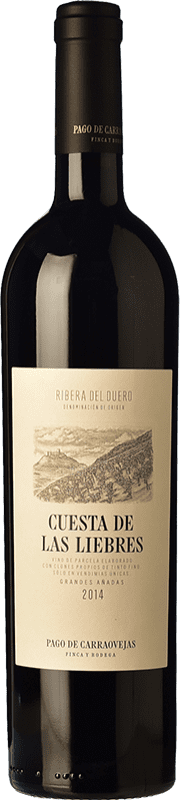 147,95 € Spedizione Gratuita | Vino rosso Pago de Carraovejas Cuesta de las Liebres Crianza 2011 D.O. Ribera del Duero Castilla y León Spagna Tempranillo Bottiglia 75 cl