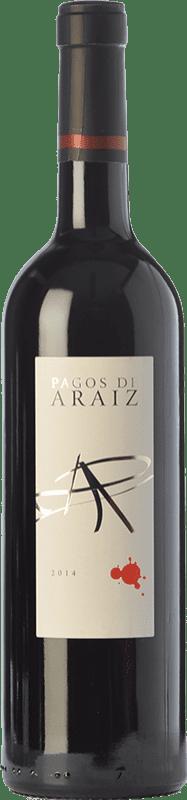5,95 € Envío gratis | Vino tinto Pagos de Aráiz Roble D.O. Navarra Navarra España Tempranillo, Cabernet Sauvignon, Graciano Botella 75 cl