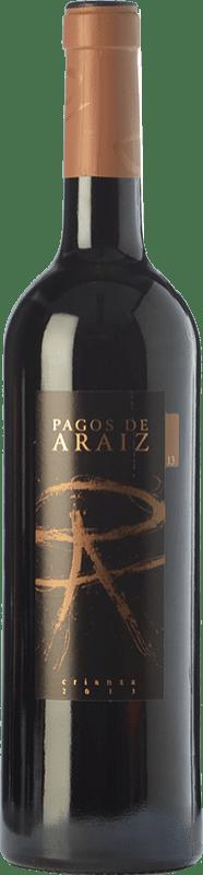4,95 € Free Shipping | Red wine Pagos de Aráiz Crianza D.O. Navarra Navarre Spain Tempranillo, Merlot, Syrah, Cabernet Sauvignon Bottle 75 cl