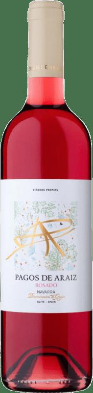 4,95 € Free Shipping | Rosé wine Pagos de Aráiz Joven D.O. Navarra Navarre Spain Grenache Bottle 75 cl