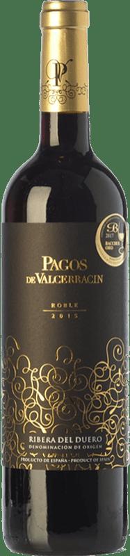 10,95 € Free Shipping | Red wine Pagos de Valcerracín Roble D.O. Ribera del Duero Castilla y León Spain Tempranillo Bottle 75 cl