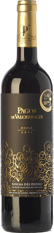 9,95 € Envío gratis | Vino tinto Pagos de Valcerracín Roble D.O. Ribera del Duero Castilla y León España Tempranillo Botella 75 cl