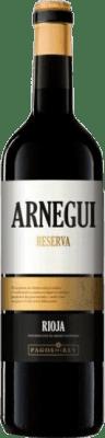 12,95 € Free Shipping | Red wine Pagos del Rey Arnegui Reserva D.O.Ca. Rioja The Rioja Spain Tempranillo Bottle 75 cl