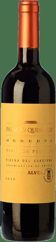 11,95 € Envío gratis | Vino tinto Palacio Quemado Reserva D.O. Ribera del Guadiana Extremadura España Tempranillo, Cabernet Sauvignon Botella 75 cl