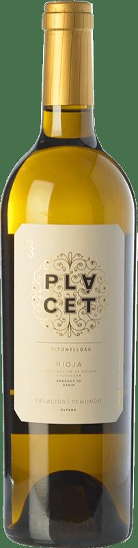19,95 € Envío gratis | Vino blanco Palacios Remondo Plácet Valtomelloso Crianza D.O.Ca. Rioja La Rioja España Viura Botella 75 cl