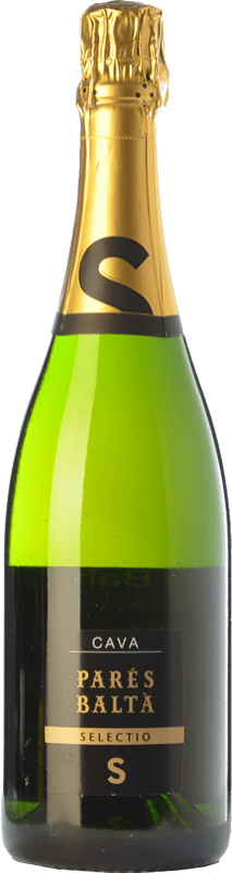 13,95 € Envío gratis | Espumoso blanco Parés Baltà Selectio Brut Reserva D.O. Cava Cataluña España Macabeo, Xarel·lo, Chardonnay, Parellada Botella 75 cl