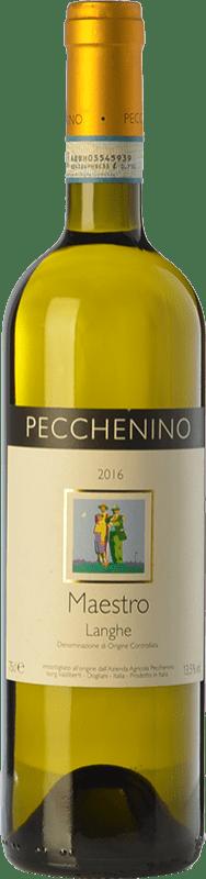 16,95 € Free Shipping | White wine Pecchenino Bianco Maestro D.O.C. Langhe Piemonte Italy Chardonnay, Sauvignon Bottle 75 cl