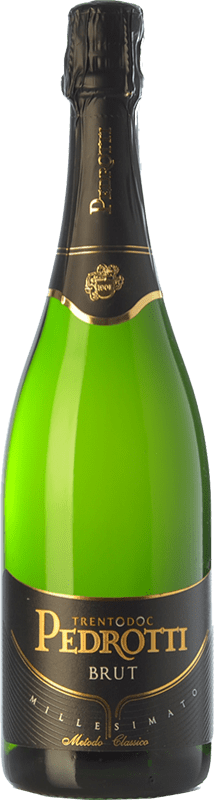 27,95 € Free Shipping | White sparkling Pedrotti Brut 2011 D.O.C. Trento Trentino Italy Pinot Black, Chardonnay Bottle 75 cl