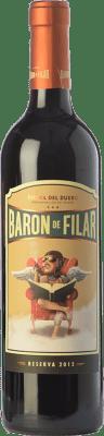 19,95 € Kostenloser Versand | Rotwein Peñafiel Barón de Filar Reserva D.O. Ribera del Duero Kastilien und León Spanien Tempranillo, Merlot, Cabernet Sauvignon Flasche 75 cl