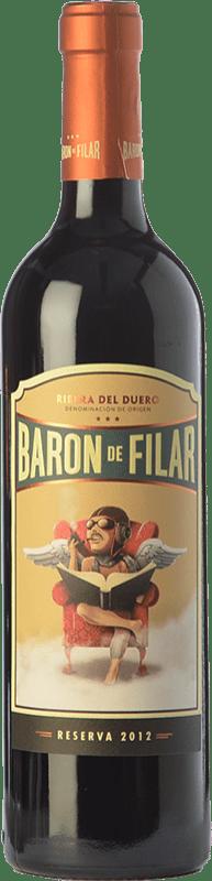 19,95 € Envoi gratuit | Vin rouge Peñafiel Barón de Filar Reserva D.O. Ribera del Duero Castille et Leon Espagne Tempranillo, Merlot, Cabernet Sauvignon Bouteille 75 cl