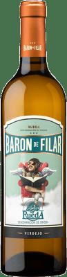 8,95 € Free Shipping | White wine Peñafiel Barón de Filar D.O. Rueda Castilla y León Spain Verdejo Bottle 75 cl