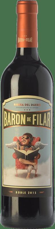9,95 € Free Shipping   Red wine Peñafiel Barón de Filar Roble D.O. Ribera del Duero Castilla y León Spain Tempranillo, Merlot, Cabernet Sauvignon Bottle 75 cl