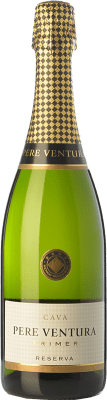 14,95 € Free Shipping | White sparkling Pere Ventura Primer Brut Reserva D.O. Cava Catalonia Spain Macabeo, Xarel·lo, Parellada Bottle 75 cl. | Thousands of wine lovers trust us to get the best price guarantee, free shipping always and hassle-free shopping and returns.