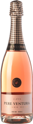 14,95 € Free Shipping | Rosé sparkling Pere Ventura Primer Rosé Semi Sec D.O. Cava Catalonia Spain Trepat Bottle 75 cl | Thousands of wine lovers trust us to get the best price guarantee, free shipping always and hassle-free shopping and returns.