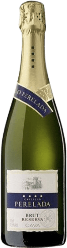 5,95 € Envío gratis | Espumoso blanco Perelada Brut Reserva D.O. Cava Cataluña España Macabeo, Xarel·lo, Parellada Botella 75 cl