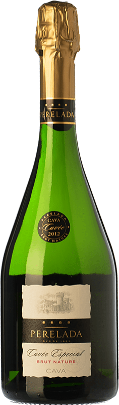8,95 € Free Shipping | White sparkling Perelada Cuvée Especial Brut Nature D.O. Cava Catalonia Spain Macabeo, Xarel·lo, Chardonnay, Parellada Bottle 75 cl. | Thousands of wine lovers trust us to get the best price guarantee, free shipping always and hassle-free shopping and returns.