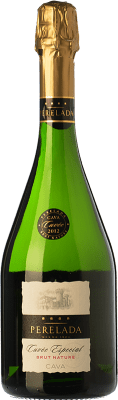8,95 € Free Shipping | White sparkling Perelada Cuvée Especial Brut Nature D.O. Cava Catalonia Spain Macabeo, Xarel·lo, Chardonnay, Parellada Bottle 75 cl | Thousands of wine lovers trust us to get the best price guarantee, free shipping always and hassle-free shopping and returns.