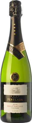 7,95 € Free Shipping | White sparkling Perelada Vintage Brut Nature D.O. Cava Catalonia Spain Macabeo, Xarel·lo, Parellada Bottle 75 cl | Thousands of wine lovers trust us to get the best price guarantee, free shipping always and hassle-free shopping and returns.