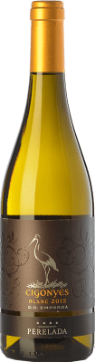8,95 € Free Shipping | White wine Perelada Cigonyes D.O. Empordà Catalonia Spain Macabeo, Sauvignon White Bottle 75 cl