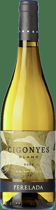 8,95 € Free Shipping | White wine Perelada Cigonyes D.O. Empordà Catalonia Spain Macabeo, Sauvignon White Bottle 75 cl