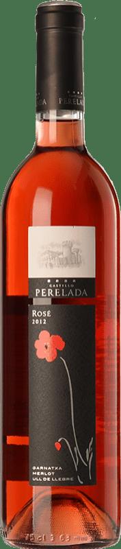 6,95 € Free Shipping | Rosé wine Perelada Joven D.O. Empordà Catalonia Spain Tempranillo, Merlot, Grenache Bottle 75 cl