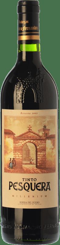 69,95 € Envío gratis | Vino tinto Pesquera Millenium Reserva 2008 D.O. Ribera del Duero Castilla y León España Tempranillo Botella 75 cl