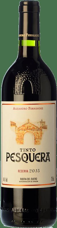 29,95 € Free Shipping | Red wine Pesquera Reserva D.O. Ribera del Duero Castilla y León Spain Tempranillo Bottle 75 cl