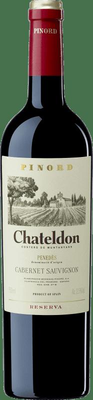 9,95 € Free Shipping | Red wine Pinord Chateldon Reserva D.O. Penedès Catalonia Spain Cabernet Sauvignon Bottle 75 cl