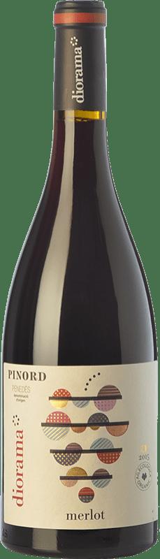 9,95 € Free Shipping | Red wine Pinord Diorama Joven D.O. Penedès Catalonia Spain Merlot Bottle 75 cl