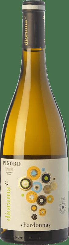 9,95 € Free Shipping | White wine Pinord Diorama D.O. Penedès Catalonia Spain Chardonnay Bottle 75 cl
