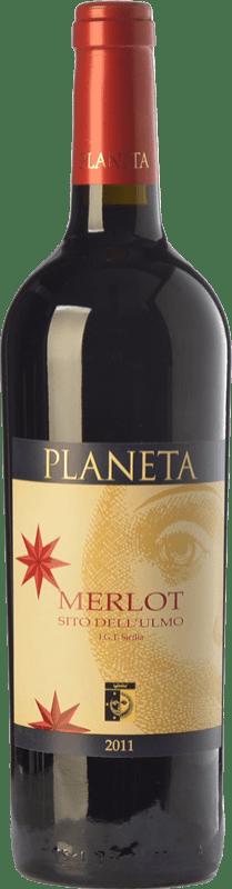 21,95 € Free Shipping   Red wine Planeta Merlot Sito dell'Ulmo I.G.T. Terre Siciliane Sicily Italy Merlot, Petit Verdot Bottle 75 cl