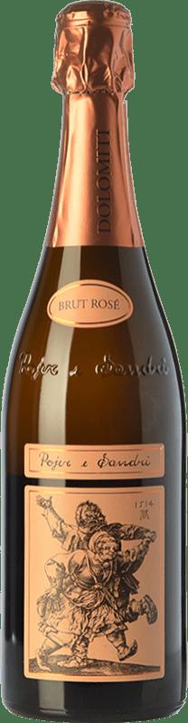 27,95 € Free Shipping | Rosé sparkling Pojer e Sandri Rosé Brut I.G.T. Vigneti delle Dolomiti Trentino Italy Pinot Black, Chardonnay Bottle 75 cl