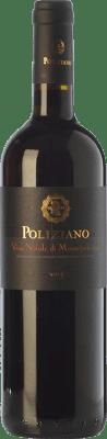 25,95 € Kostenloser Versand | Rotwein Poliziano D.O.C.G. Vino Nobile di Montepulciano Toskana Italien Merlot, Colorino, Canaiolo, Prugnolo Gentile Flasche 75 cl