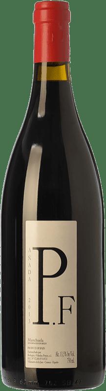 17,95 € Envío gratis | Vino tinto Ponce J. Antonio Pie Franco Crianza D.O. Manchuela Castilla la Mancha España Bobal Botella 75 cl