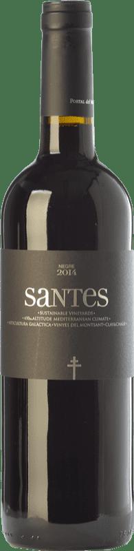 6,95 € Envoi gratuit | Vin rouge Portal del Montsant Santes Negre Joven D.O. Catalunya Catalogne Espagne Tempranillo Bouteille 75 cl